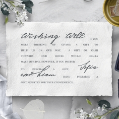 Everlasting Devotion wedding stationery gift registry enclosure card