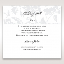 Exquisite Floral Pocket wedding stationery gift registry card design