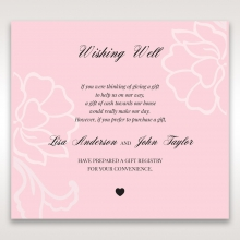 Exquisitely Embossed Floral Pocket wedding stationery wishing well invitation card design