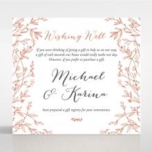 Fleur wedding stationery gift registry card