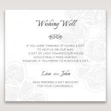 Floral Laser Cut Elegance Black gift registry card design