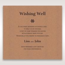 Floral Laser Cut Rustic Gem wishing well invitation card