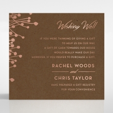 Flourishing Romance gift registry enclosure stationery invite card design