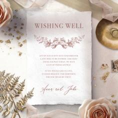 Fragrant Romance wishing well invite card design