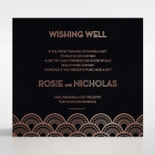 Gatsby Glamour wedding stationery gift registry invite card design