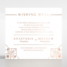 Gatsby Glamour wishing well invitation card