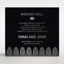 Gilded Decadence gift registry enclosure stationery invite card design