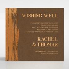 Gilded Stroke wedding stationery wishing well invite