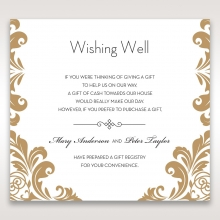 Golden Antique Pocket wishing well enclosure stationery card