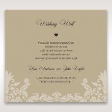 Golden Beauty wedding stationery gift registry invitation card