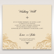 Golden Charisma wishing well enclosure stationery invite card