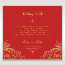 Golden Charisma wishing well enclosure stationery invite card design