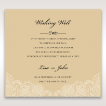 Golden Classic wedding stationery wishing well enclosure invite card design