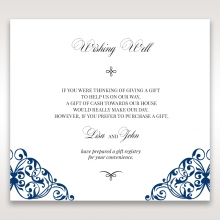 Graceful Ivory Pocket wedding wishing well card design