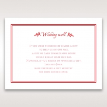Graceful wishing well invite card