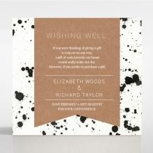 Graffiti wedding gift registry enclosure invite card design