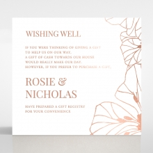 Grand Flora gift registry invitation card