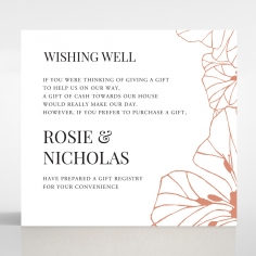 Grand Flora wedding stationery gift registry card