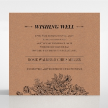 Hand Delivery wedding stationery gift registry invitation card