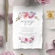 Happily Ever After wishing well stationery invite