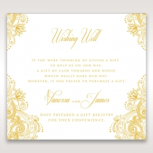 Imperial Glamour with Foil wishing well enclosure invite card design