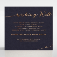 Infinity wishing well enclosure stationery invite card