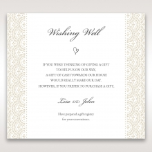 Intricate Vintage Lace wedding gift registry card