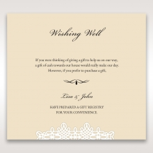 Ivory Victorian Charm wedding wishing well invite card