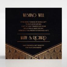 Jeweled Ikat gift registry enclosure invite card design