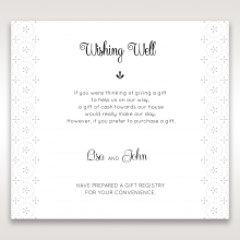 Laser Cut Button wedding stationery wishing well invite card design