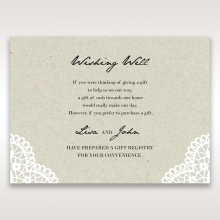 Letters of love wishing well enclosure invite card