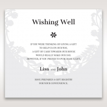 Luscious Forest Laser Cut gift registry enclosure card