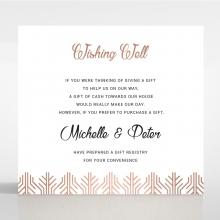 Luxe Rhapsody wedding stationery gift registry invitation card design