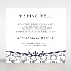 Luxe Victorian wedding stationery gift registry invite