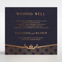 Luxe Victorian wishing well enclosure stationery invite card