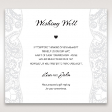 Luxurious Embossing with White Bow gift registry enclosure stationery invite card design