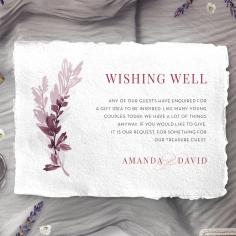 Magenta Wed wedding wishing well invitation card design