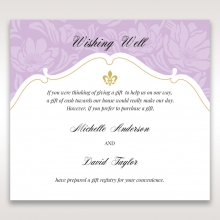 Majestic Gold Floral wedding wishing well invitation card