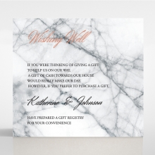 Marble Minimalist wedding stationery gift registry invitation card