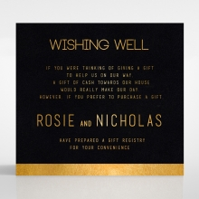 Minimalist Love wishing well enclosure stationery invite card design