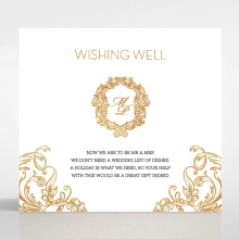 Modern Crest wedding wishing well invitation card