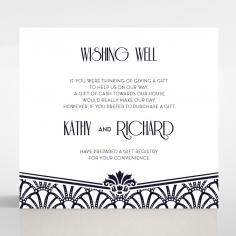 Modern Deco wedding stationery gift registry invitation