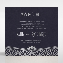 Modern Deco wishing well invitation card design