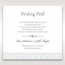 Modern Sparkle wishing well enclosure card