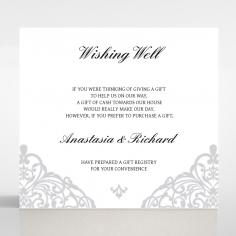 Modern Vintage wedding wishing well card design
