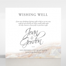 Moonstone wedding stationery wishing well enclosure card