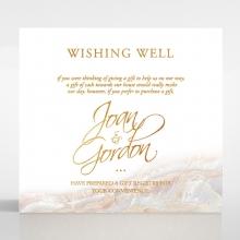 Moonstone wedding stationery wishing well enclosure card design