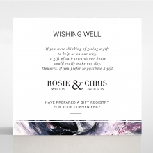 Mulberry Mozaic wishing well wedding invite card design