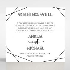 Paper Art Deco wedding gift registry enclosure invite card design