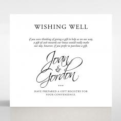 Paper Diamond Drapery wedding stationery gift registry enclosure card design